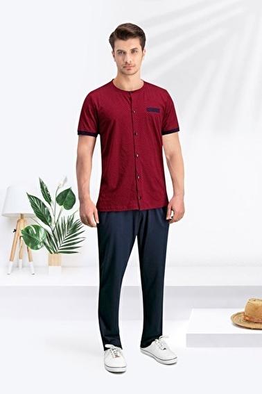 Arnetta Arnetta Groom Bordo Erkek T-Shirt, Bermuda & Pantolon Takım 3'Lü Çeyizlik Gelin Damat Seti Kırmızı